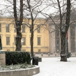 Second snow, University of Oslo, Norway. Image: Lynn D. Rosentrater.
