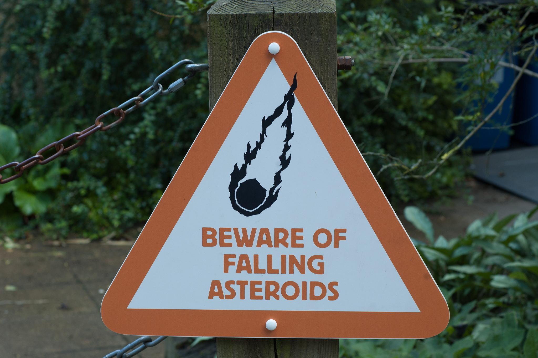 Beware of falling asteroids